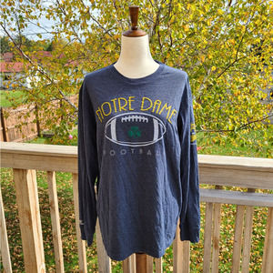 L Notre Dame Blue Long Sleeve Tee